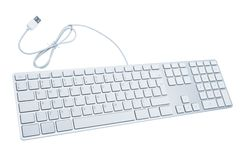 Modern and stylish keyboard. The modern and stylish keyboard for a computer Stock Image