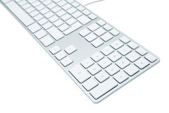 Modern and stylish keyboard. The modern and stylish keyboard for a computer Royalty Free Stock Image