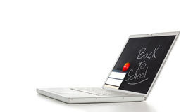 Modern and stylish laptop on a table Royalty Free Stock Photos