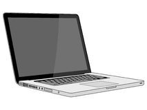 Modern and stylish laptop on a white background Royalty Free Stock Images