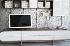 Modern and stylish living room detail Stock Photo