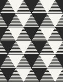 Modern stylish monochrome geometric background with structure of differently textured triangles. Stock Image