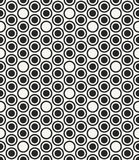 Modern stylish monochrome geometric background with structure of repeating circles. Stock Image