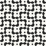 Modern stylish monochrome geometric background with structure of repeating flower shapes Royalty Free Stock Images