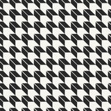Modern stylish monochrome geometric fabric texture with optical illusion effect Royalty Free Stock Photography