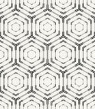 Modern stylish monochrome geometric texture with structure of repeating hexagons. Stock Images