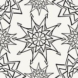 Modern stylish monochrome hand drawn fabric texture with structure of repeating floral elements Royalty Free Stock Photo