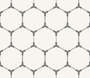Modern stylish monochrome technological background with structure of repeating hexagons with hi-tech frames Royalty Free Stock Photo