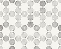 Modern stylish outlined decorative geometric texture with structure of repeating spheres Royalty Free Stock Photo