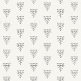Modern stylish outlined fabric geometric texture with structure of repeating double triangles and hexagons Stock Photography