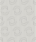 Modern stylish outlined fabric texture with structure of repeating vertical lines and circles Stock Photos