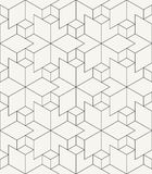 Modern stylish outlined geometric background with structure of repeating rhombuses Royalty Free Stock Photos