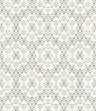 Modern stylish outlined geometric texture with repeating structure of hexagons and triangles Royalty Free Stock Image