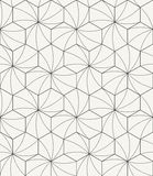 Modern stylish outlined geometric texture with structure of repeating hexagons with curved surface Royalty Free Stock Images