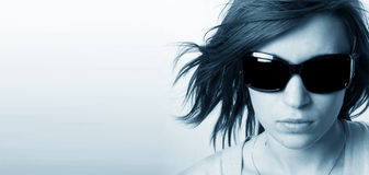 Modern, stylish portrait of young woman Stock Photography