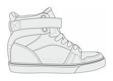 Modern stylish sneakers Stock Photos