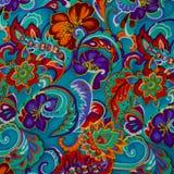 Modern stylish texture. The flower cotton chintz Royalty Free Stock Photo
