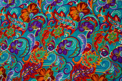 Modern stylish texture. The flower cotton chintz Stock Image