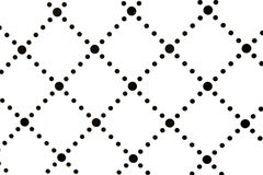 Modern stylish texture. Repeating geometric tiles with dotted rhombus Stock Photos