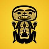 Modern stylization av kanadensisk infödd konst, en man Arkivbilder