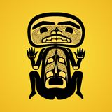 Modern stylization of Canadian native art, a man Stock Images