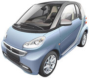 Modern subcompact car Royalty Free Stock Image