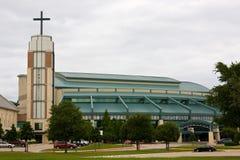 Modern Suburban Church Stock Image