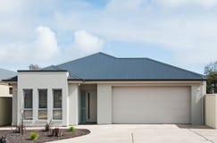 Modern Suburban House. Typical facade of a modern suburban house stock photography