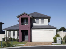 Modern Suburban House. Modern Town House In A Sydney Suburb On A Summer Day, Australia Stock Image