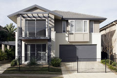 Modern Suburban House. New Modern Suburban Town House In A Sydney Suburb, Australia stock photography