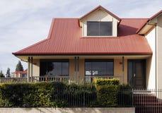 Modern Suburban House. New Suburban House In A Sydney Suburb On A Sunny Summer Day, Australia stock photography