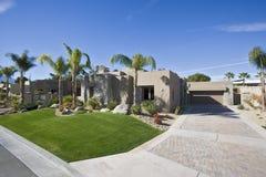Modern Suburban House Exterior Stock Photography