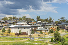 Modern suburban houses on the hill in Melbourne Royalty Free Stock Photography
