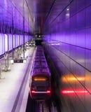 The modern subway of Hamburg, Germany.  Royalty Free Stock Photo
