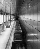 The modern subway of Hamburg, Germany.  Royalty Free Stock Photos