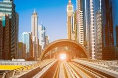 Modern subway line in Dubai Stock Photos