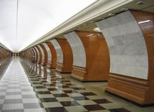 A modern subway station. Entering a modern subway station Stock Image