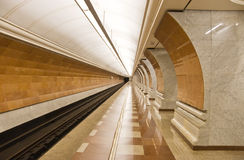 Modern subway station Royalty Free Stock Photo