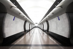 Modern subway station Royalty Free Stock Photos