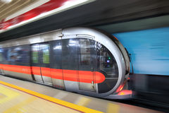 Modern subway train Stock Photos