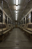 Modern subway traint interior Royalty Free Stock Image