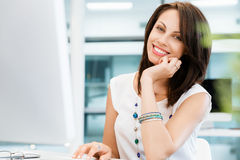 Modern successful business woman Royalty Free Stock Images