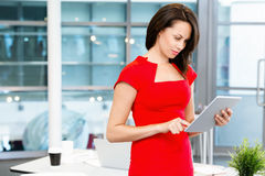 Modern successful business woman Stock Images
