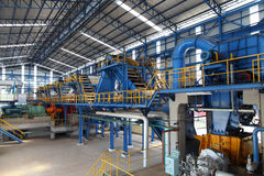 Modern Sugar mill factory machiner Royalty Free Stock Photo