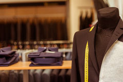 Modern suit shop Stock Images