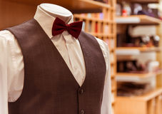 Modern suit shop Stock Photo