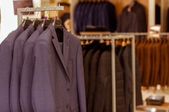 Modern suit shop Royalty Free Stock Image