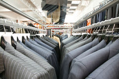 Modern suit store Royalty Free Stock Photography