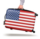 Modern suitcase US flag design Stock Image
