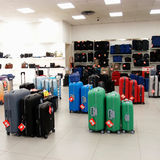 Modern suitcases Stock Images